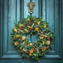 Decorated Festive Wreath